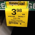 Special – eggs discounted by 1c
